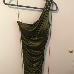 Olive Green Party Dress.